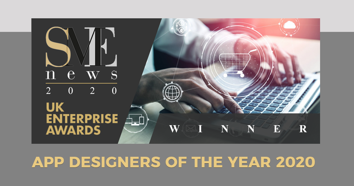"pleased to win the ""App Designers of the Year"" award for 2020"
